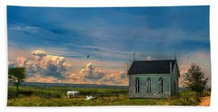 Old Evangeline Church Beach Sheet by Ken Morris