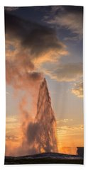 Old Faithful Yellowstone Beach Towel