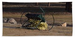 Old Farm Implement Lake George Co Beach Towel
