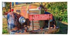 Old Farm Truck Hdr Beach Towel