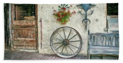 Beach Towel featuring the photograph Old Farmhouse by Jutta Maria Pusl