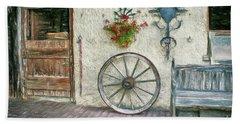 Beach Sheet featuring the photograph Old Farmhouse by Jutta Maria Pusl