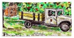 Old Farming Truck Beach Towel