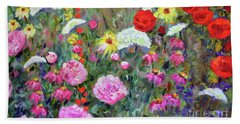 Old Fashioned Garden Beach Towel