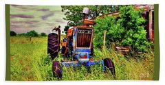 Old Ford Tractor Beach Towel