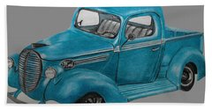 Old Ford Truck Beach Towel