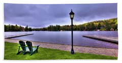 Old Forge Waterfront Beach Towel by David Patterson