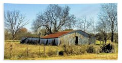 Beach Towel featuring the photograph Old Forgotten Barn Near Paris Texas by Janette Boyd