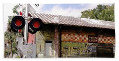 Old Freight Depot Perry Fl. Built In 1910 Beach Towel