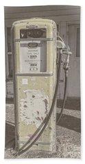 Beach Sheet featuring the photograph Old Gas Pump by Robert Bales