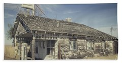 Old Gas Station Beach Towel by Robert Bales
