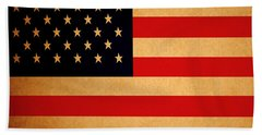 Old Glory . Square Beach Sheet