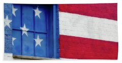 Old Glory, American Flag Mural, Street Art Beach Towel