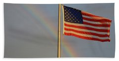 Old Glory And Rainbow Beach Sheet