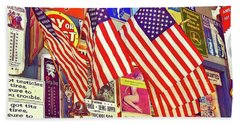 Old Glory Beach Sheet by Joan Reese