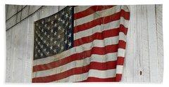 Old Glory Beach Sheet by Laurel Powell