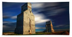 Old Grain Elevators Beach Towel