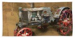 Old Grey Tractor Beach Towel by Deborah Nakano