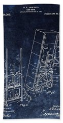 Old Hand Truck Patent Beach Towel