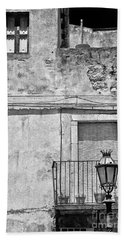 Old House In Taormina Sicily Beach Towel