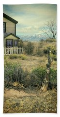 Old House Near Mountians Beach Sheet by Jill Battaglia