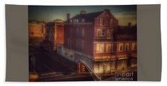 Beach Towel featuring the photograph Old House On The Corner by Miriam Danar