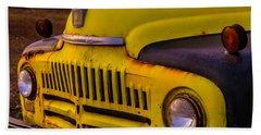 Old International Pickup Beach Towel by Garry Gay