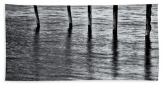 Beach Towel featuring the photograph Old Jetty - S by Werner Padarin