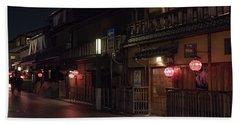 Old Kyoto Lanterns, Gion Japan Beach Sheet