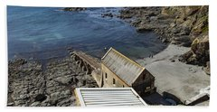 Beach Towel featuring the photograph Old Lifeboat Station by Brian Roscorla