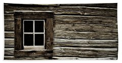 Beach Towel featuring the photograph Old Log Cabin by Brad Allen Fine Art