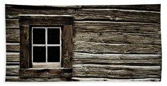 Beach Sheet featuring the photograph Old Log Cabin by Brad Allen Fine Art