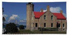 Old Mackinac Point Light Shouse Beach Towel