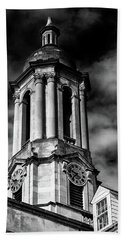 Old Main Black And White Beach Towel