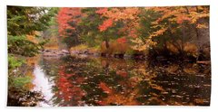 Beach Towel featuring the photograph Old Main Road Stream by Jeff Folger