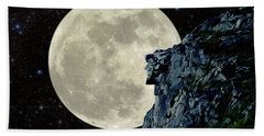 Beach Towel featuring the photograph Old Man / Man In The Moon by Larry Landolfi