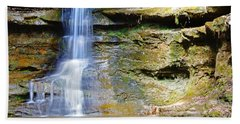 Old Man's Cave Waterfall Beach Towel