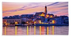 Old Mediterranean Town Of Betina Sunset View Beach Sheet