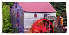 Old Mill Of Guilford Painted Square Beach Sheet by Sandi OReilly