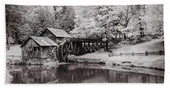 Old Mill On The Mountain Beach Towel