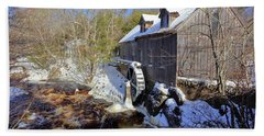 Old Mill On The Tom Tigney River, Nova Scotia Beach Towel