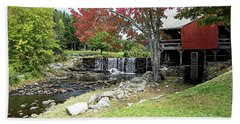 Beach Towel featuring the photograph Old Mill - Weston, Vermont by Joseph Hendrix