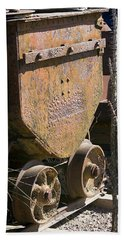 Beach Towel featuring the photograph Old Mining Car by Phyllis Denton