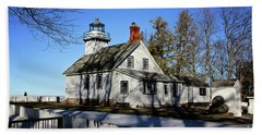 Old Mission Lighthouse Beach Towel