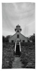 Old Mission Point Lighthouse Beach Towel by Joann Copeland-Paul