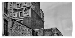 Old Montreal Buildings  Beach Towel by Maria Angelica Maira