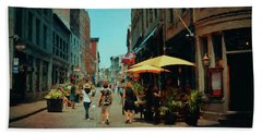 Old Montreal - Quebec Beach Towel by Maria Angelica Maira