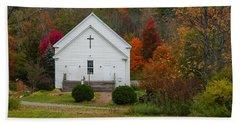 Old New England Church Beach Sheet