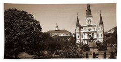 Old New Orleans Photo - Saint Louis Cathedral Beach Towel