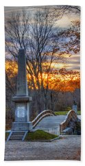 Old North Bridge - Concord Ma Beach Towel
